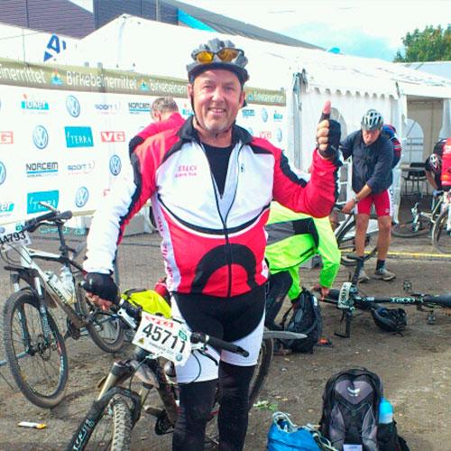 Bjørn skal sykle Birken for Ellco Etikett